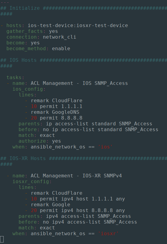 Managing Network ACL's With Ansible